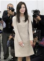 酒井法子、笑顔で「マンモスうれぴー」 女優復帰会見 介護の仕事はやる気なし