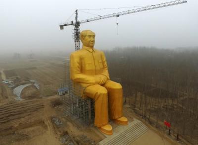【中国】金色の毛沢東像を撤去