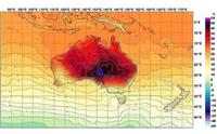 スマホが壊れる?ほどの豪の猛暑、天気図に見たことない色が