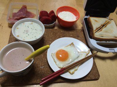 遅めの朝ごはん作ったよ