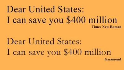 中学生(14)「アメリカ政府は文書のフォント変えろ。インク代数百万ドル節約できる」