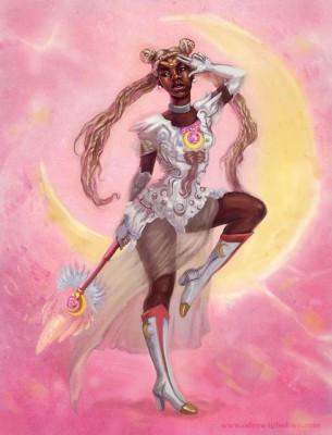 【話題】力強くてカッコいい! 男性アーティストが描く「アフリカ系セーラームーン」が話題に